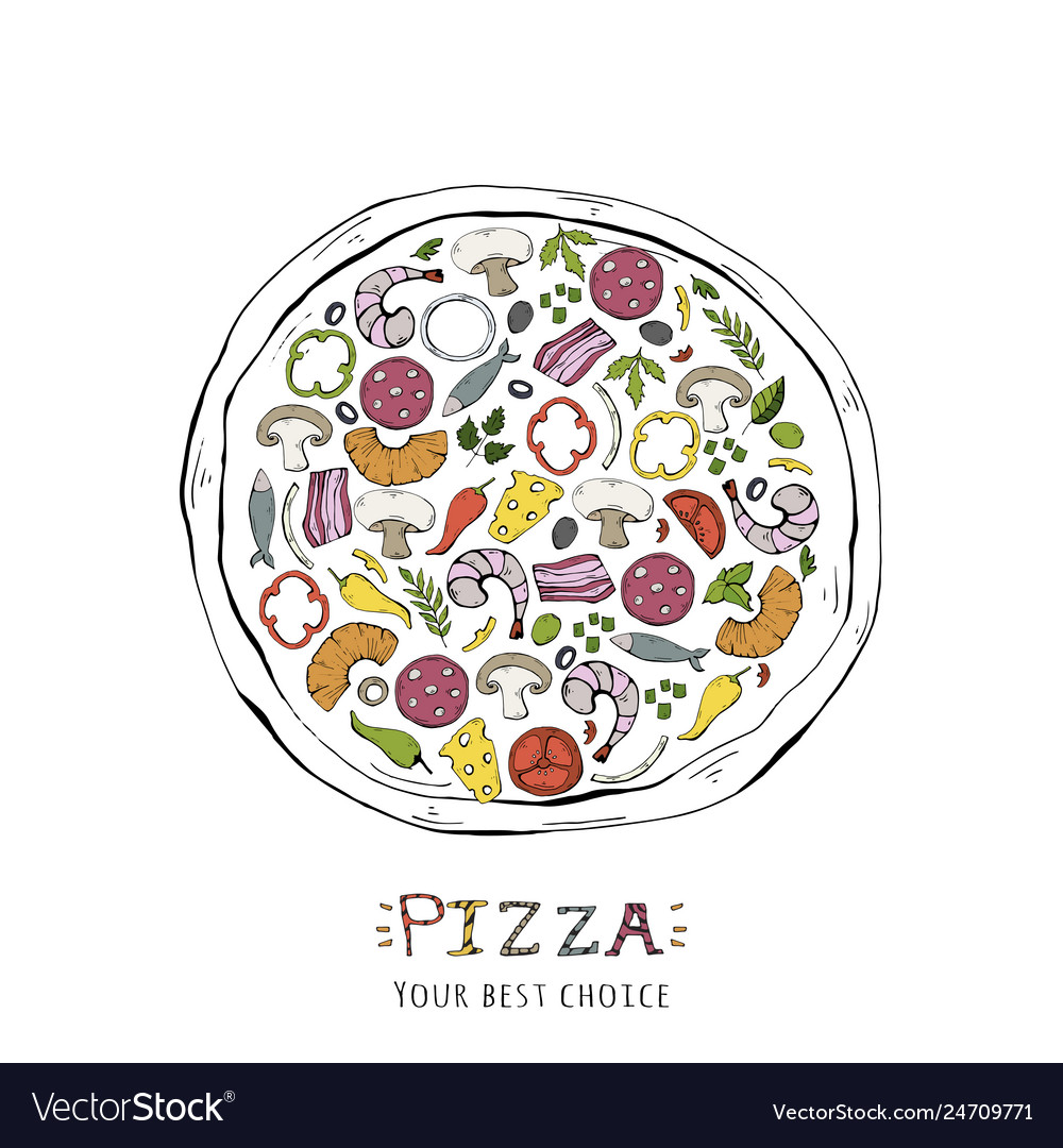 Fast food pizza isolated on a white