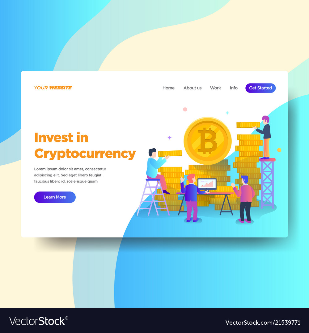 Landing page template of cryptocurrency investment