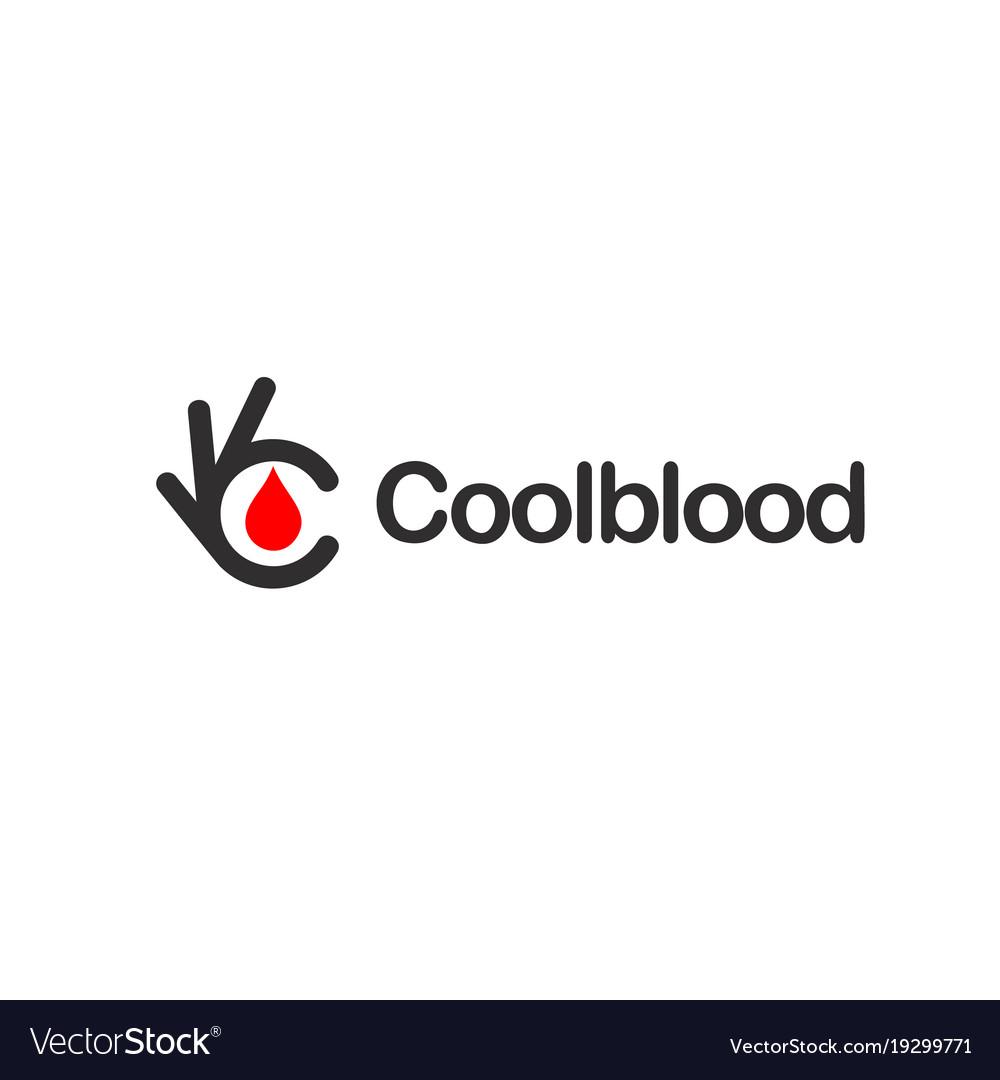 Red blood drop ok symbol okay logo