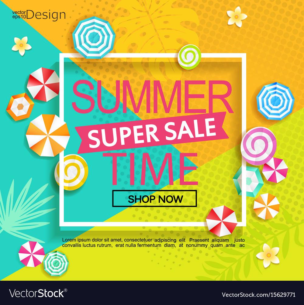 Summer super sale banner
