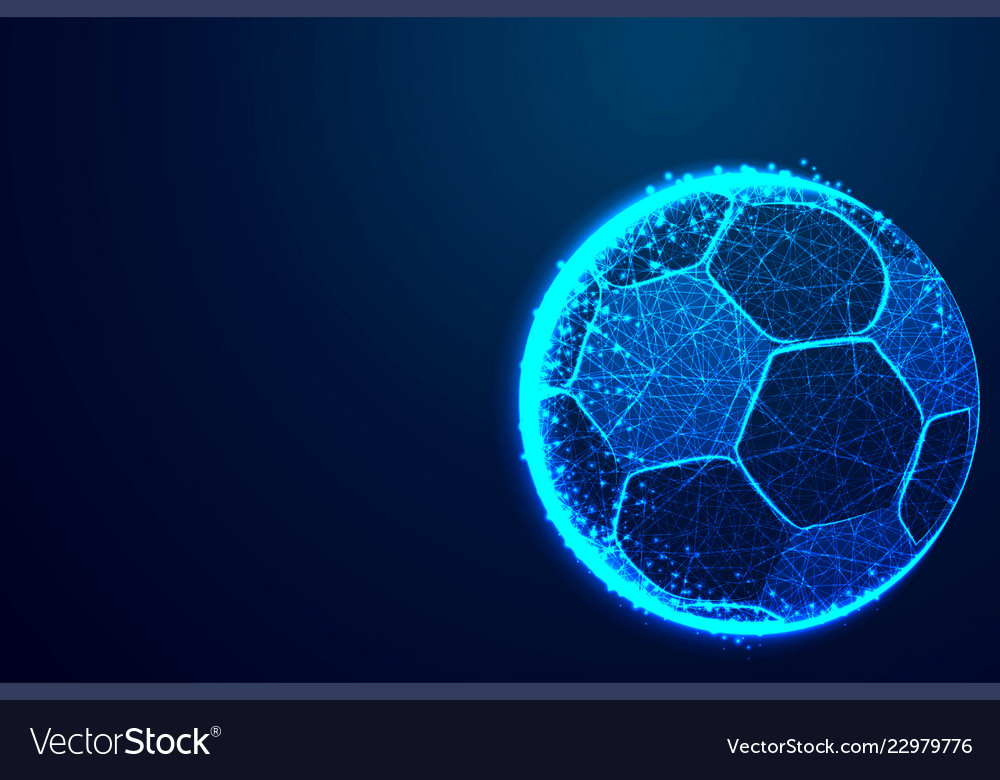 Ball football team abstract low poly triangle dot