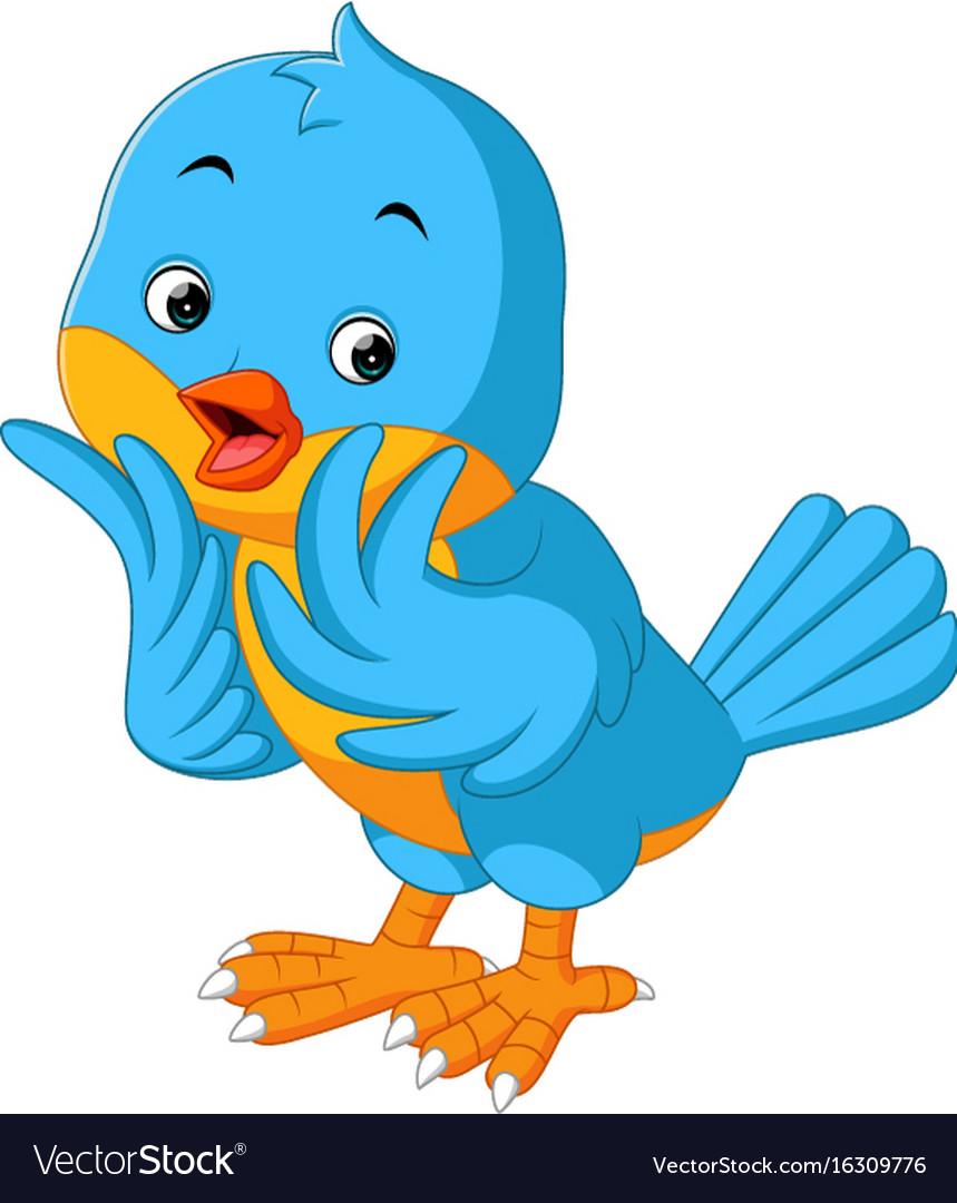 Cute Bird Cartoon Royalty Free Vector Image Vectorstock