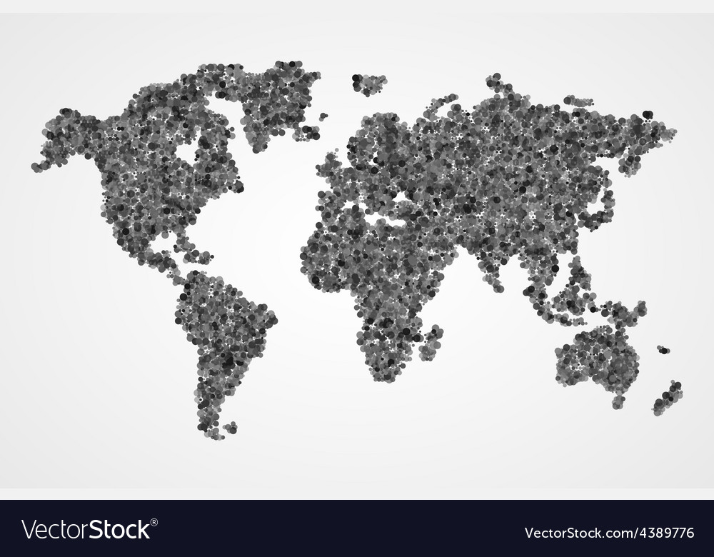 Dotted round world map Abstract