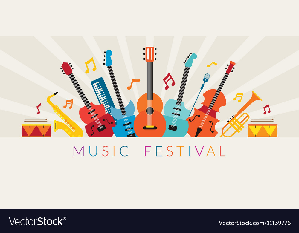 Music Instruments Objects Background