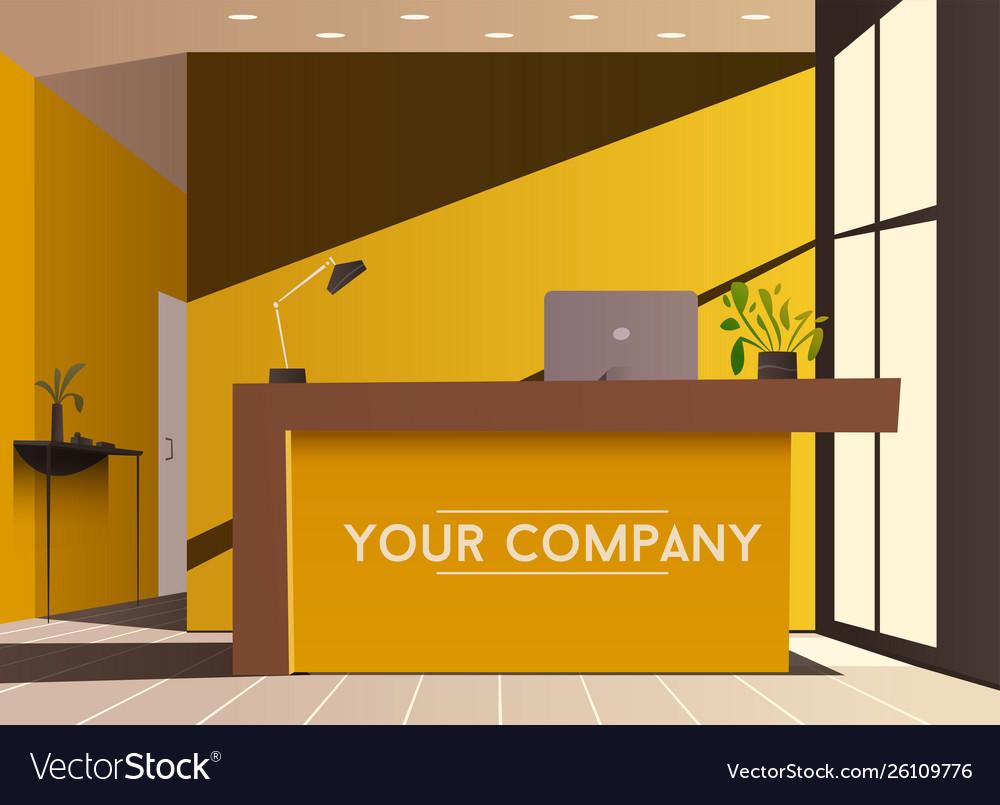 Reception desk cartoon