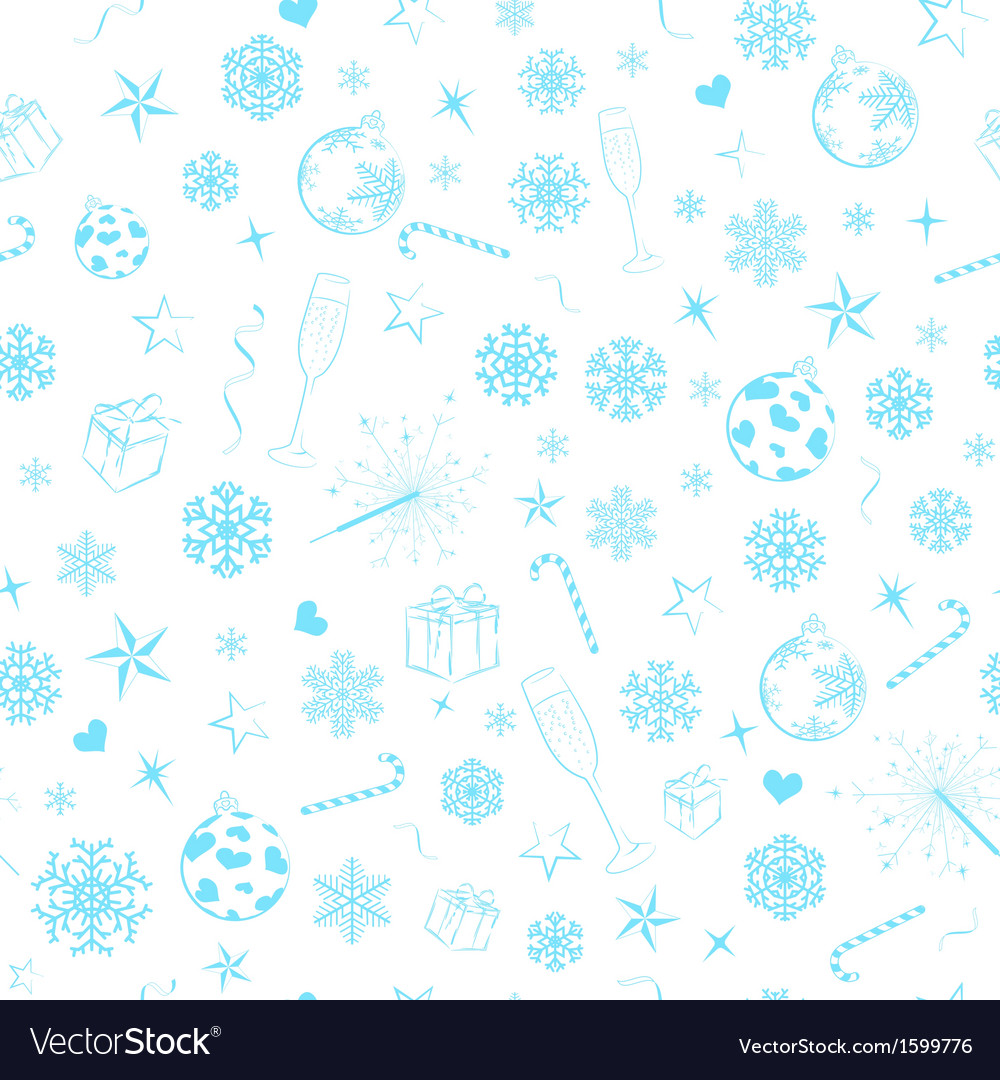 Seamless pattern from christmas symbols