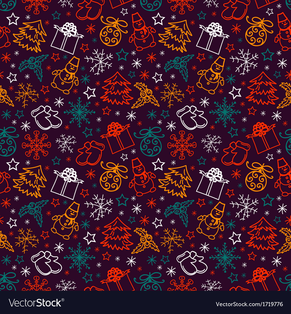 Seamless pattern joyful Christmas