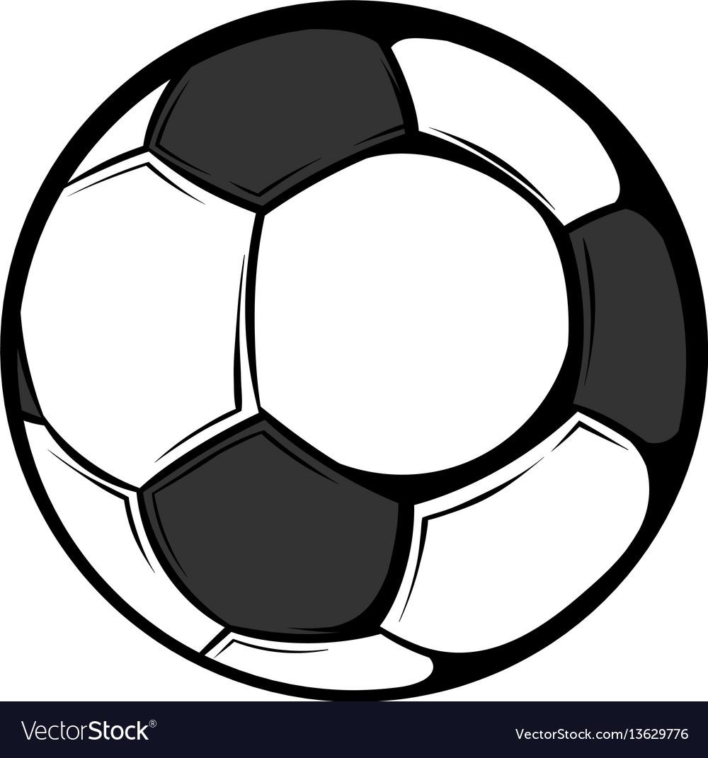 Soccer ball icon cartoon vector image