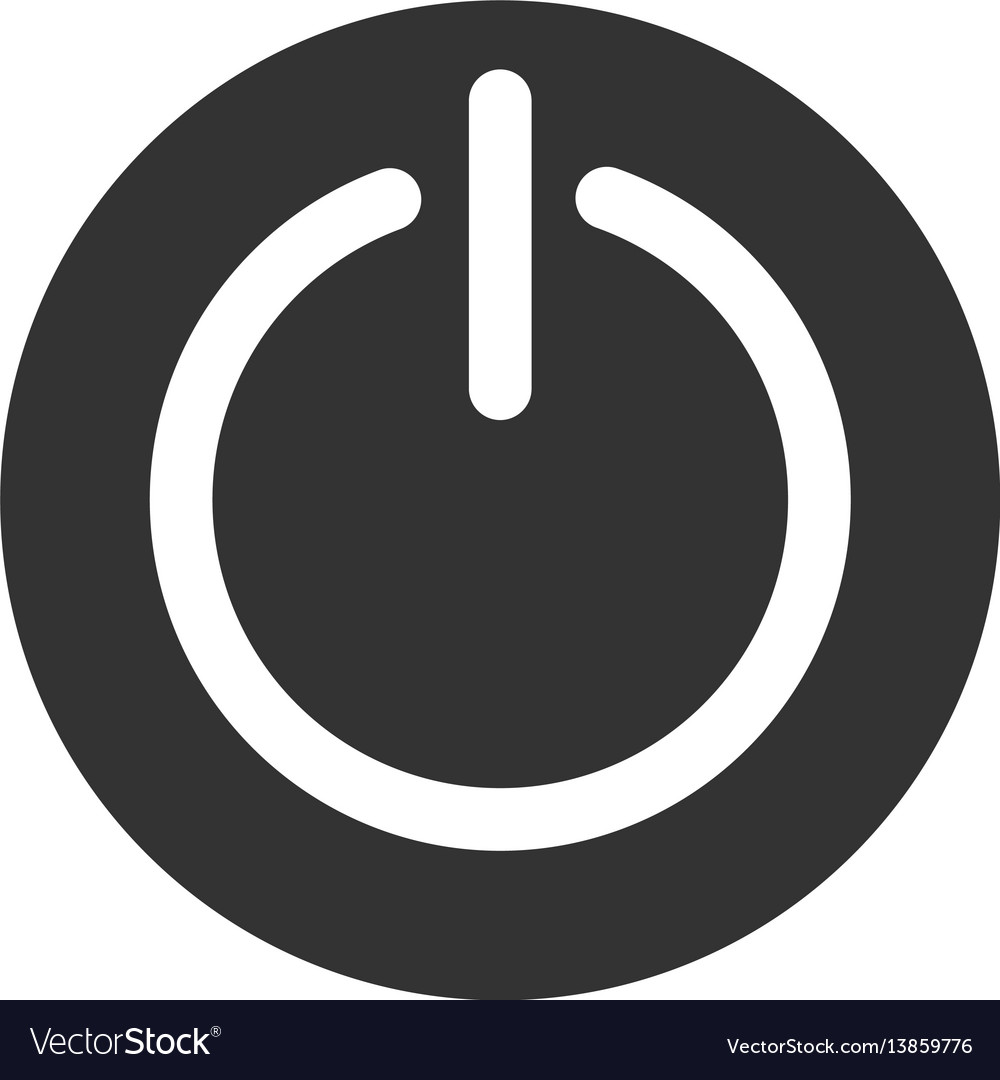 turn off power flat icon royalty free vector image vectorstock