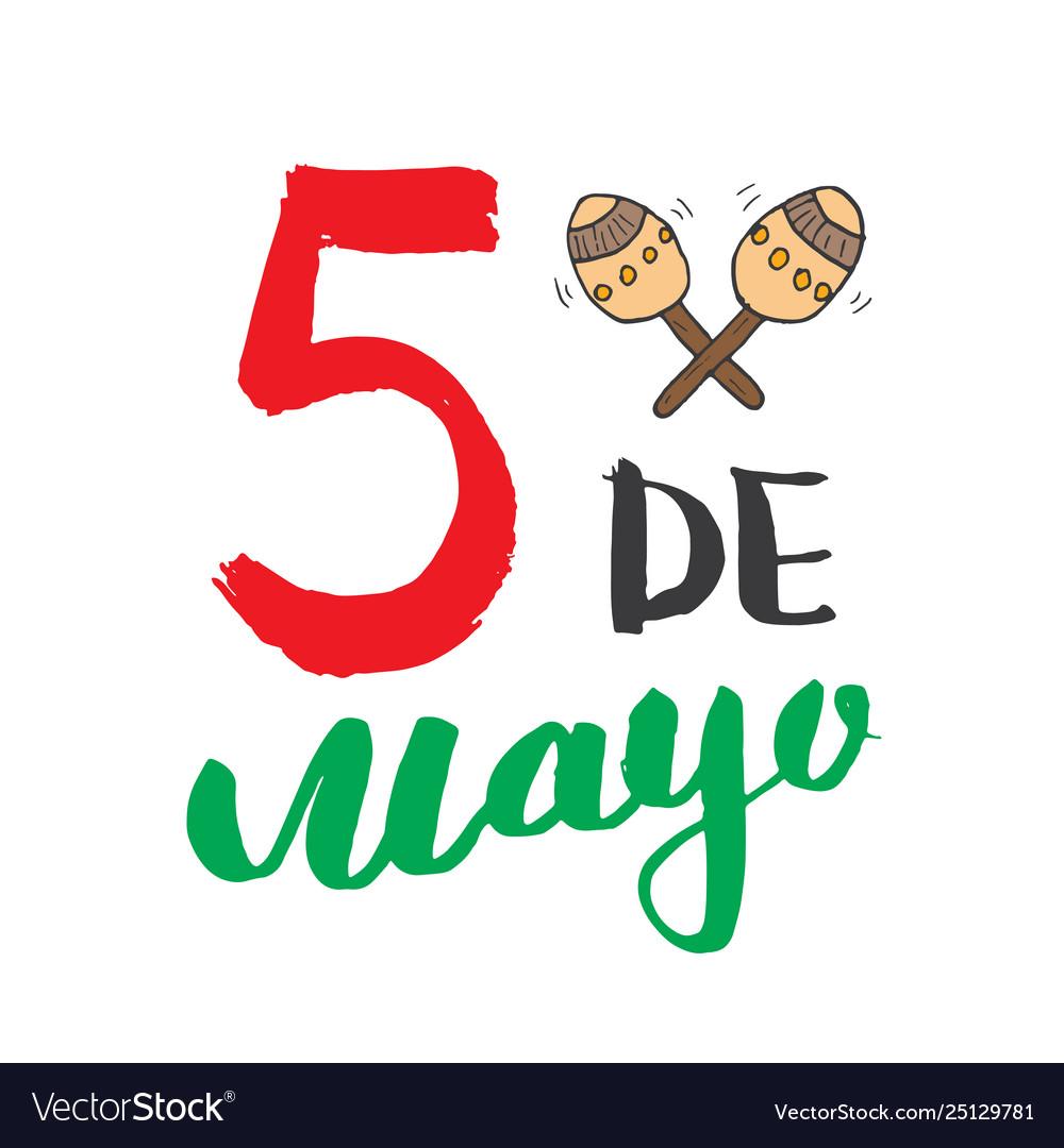 Happy cinco de mayo greeting card hand lettering