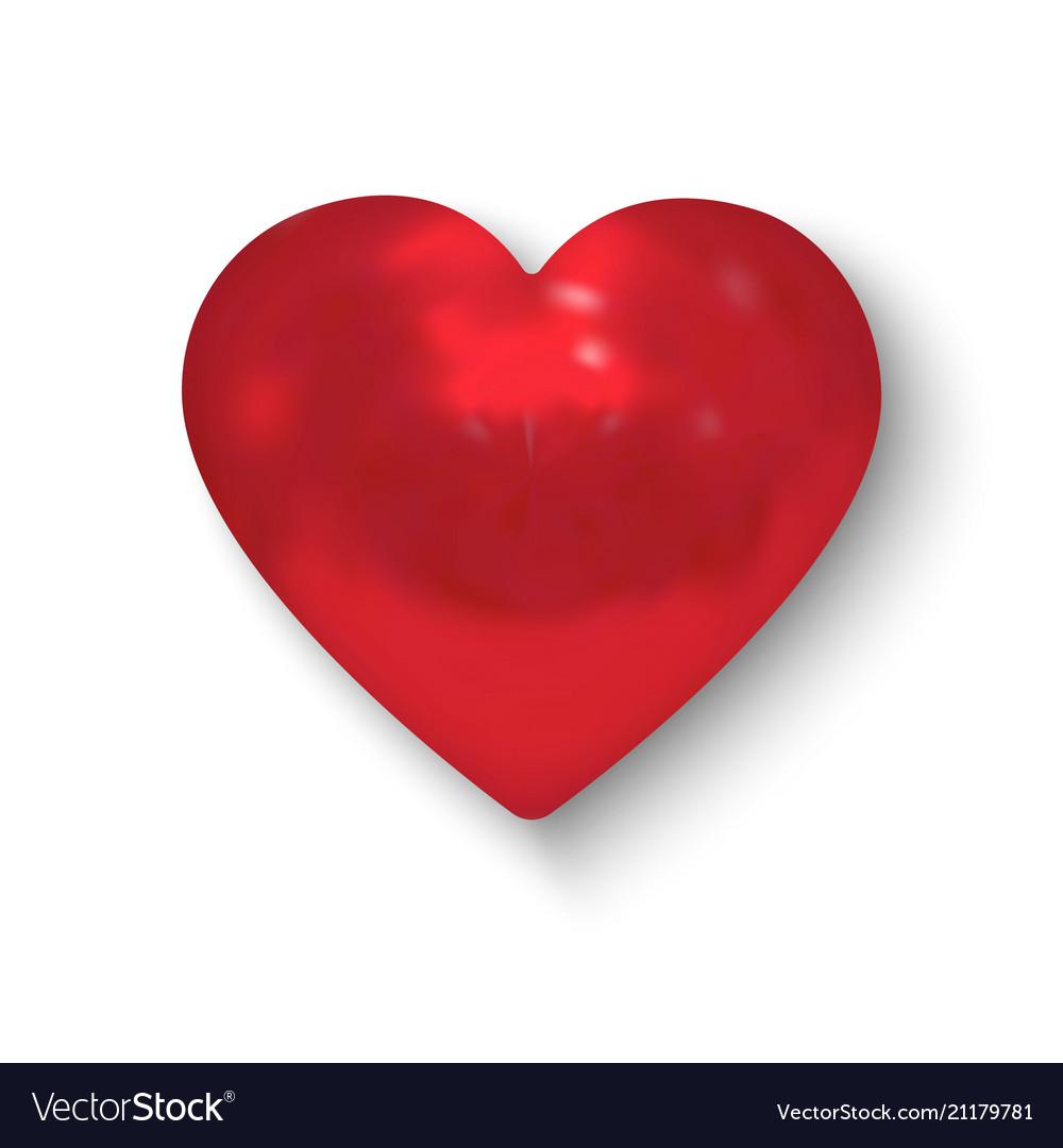 Realistic Heart Royalty Free Vector Image Vectorstock