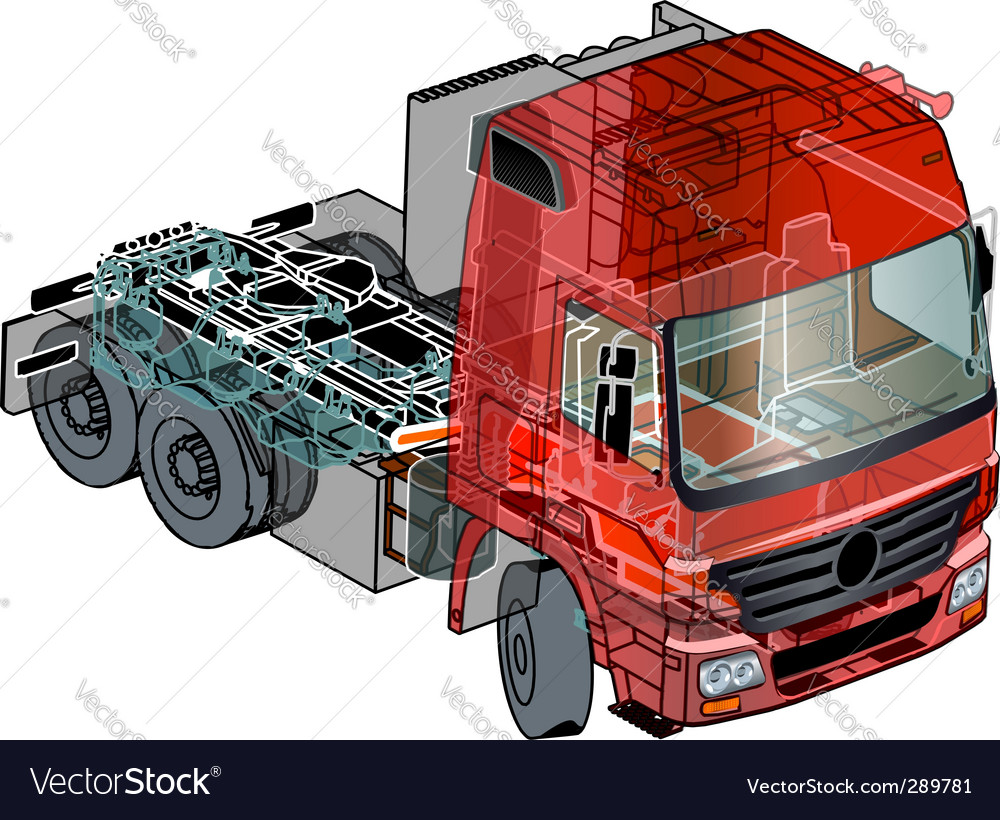 64980a5807 Semi truck info graphics Royalty Free Vector Image