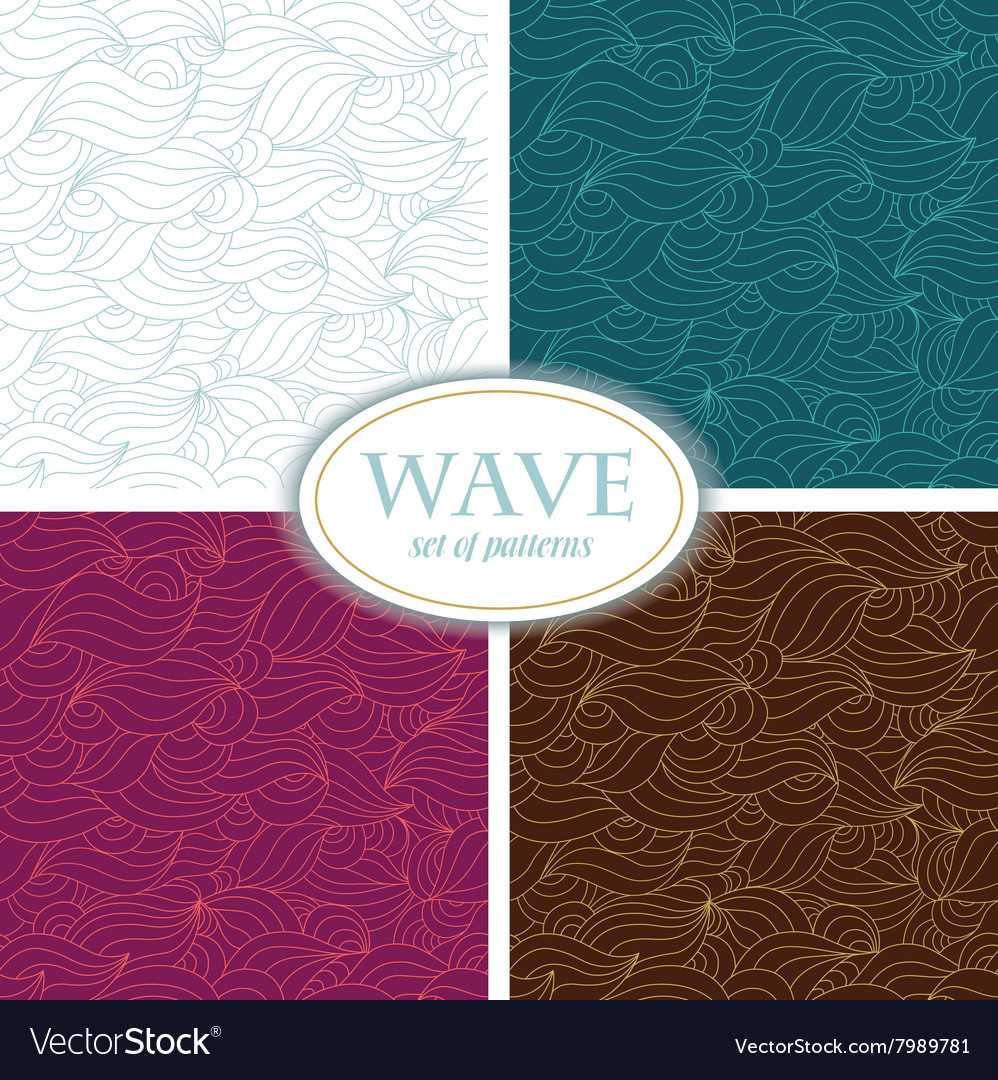 Set of Seamless Waves Patterns