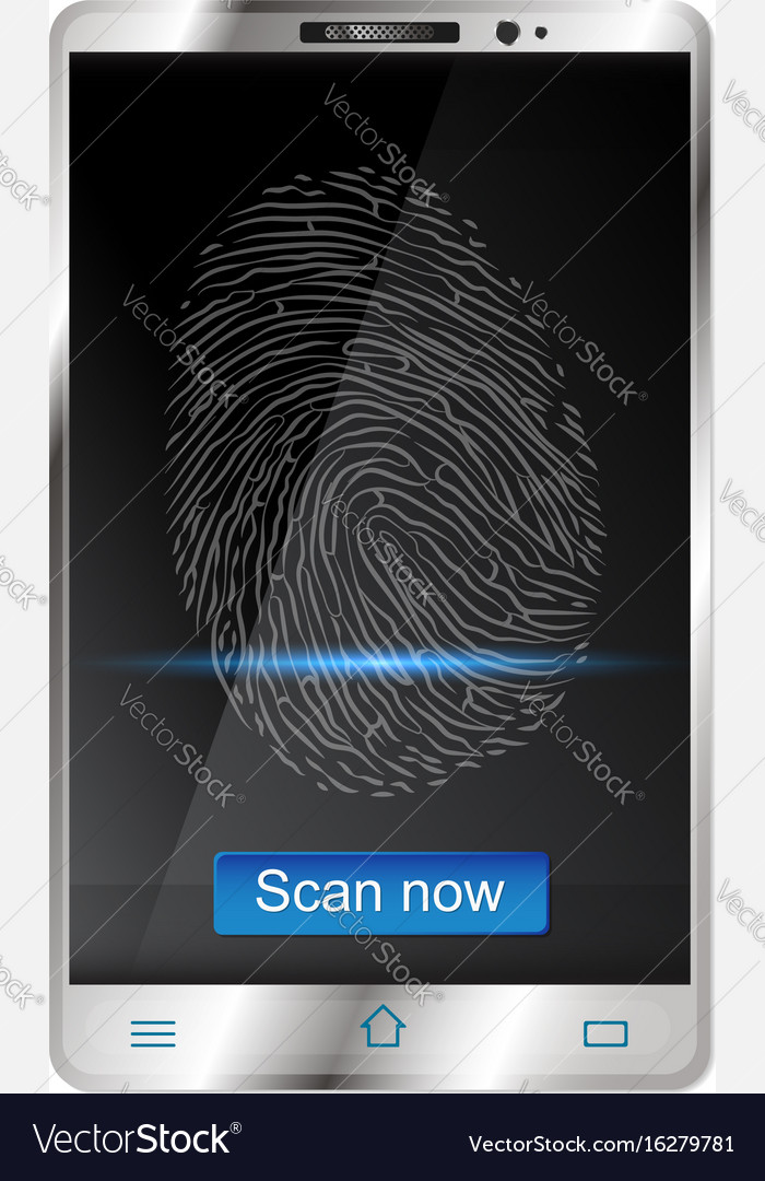Smartphone with fingerprint scanners on display