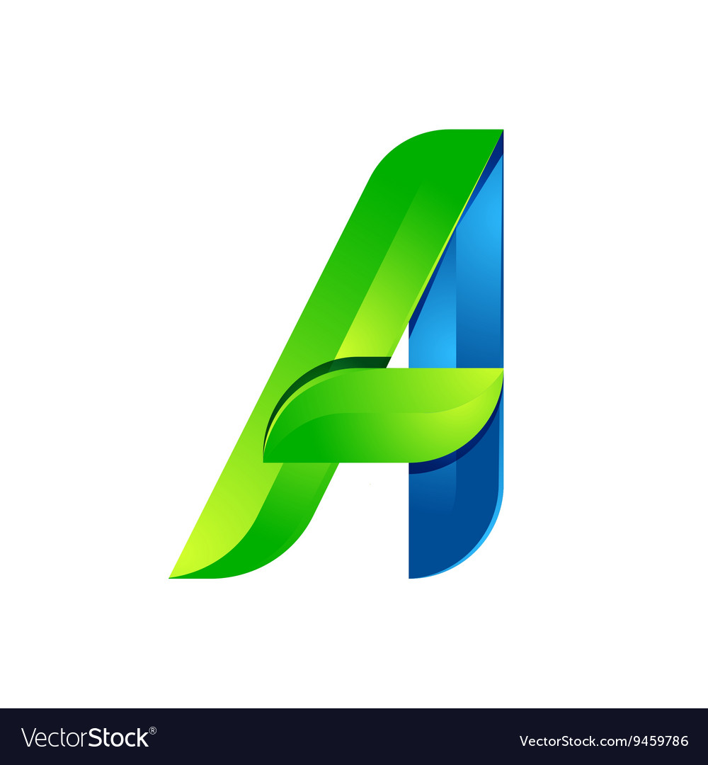 A letter leaves eco logo volume icon