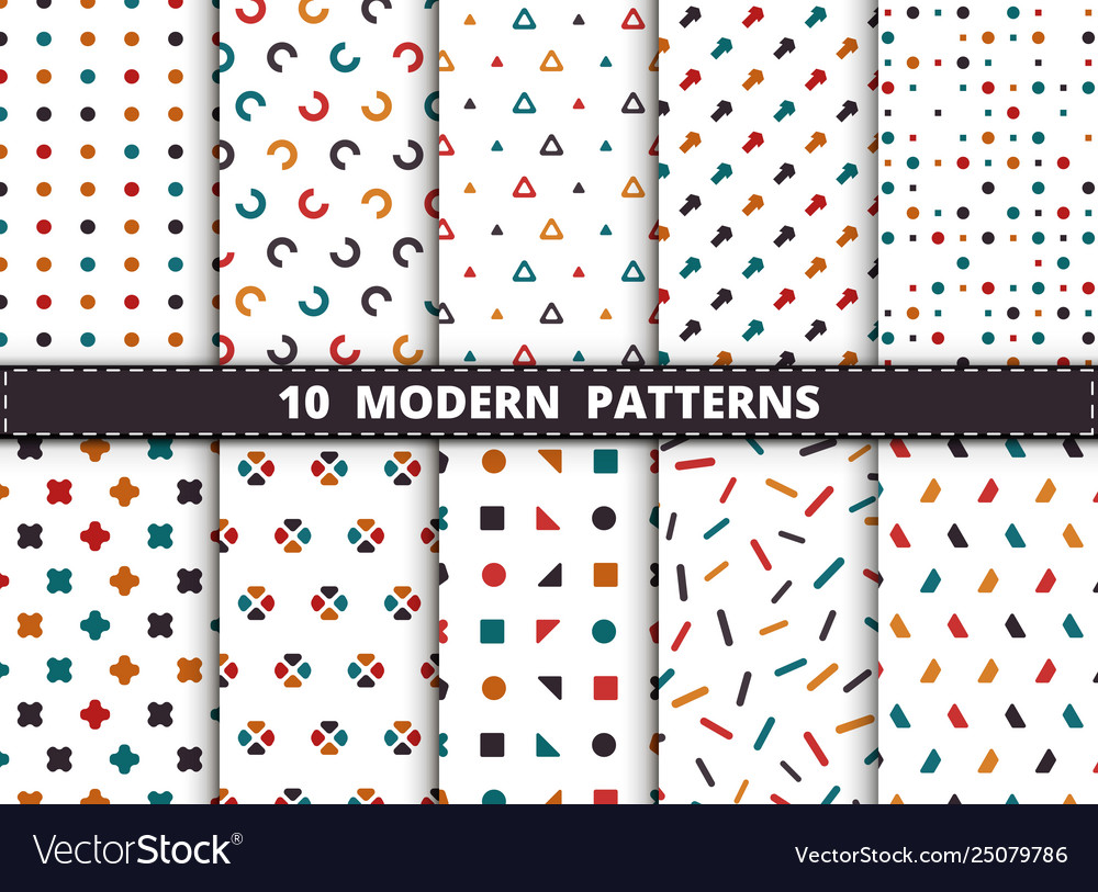 Abstract colorful style modern geometric pattern