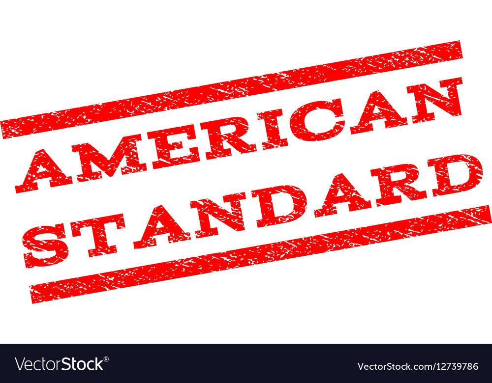 American Standard Watermark Stamp vector image