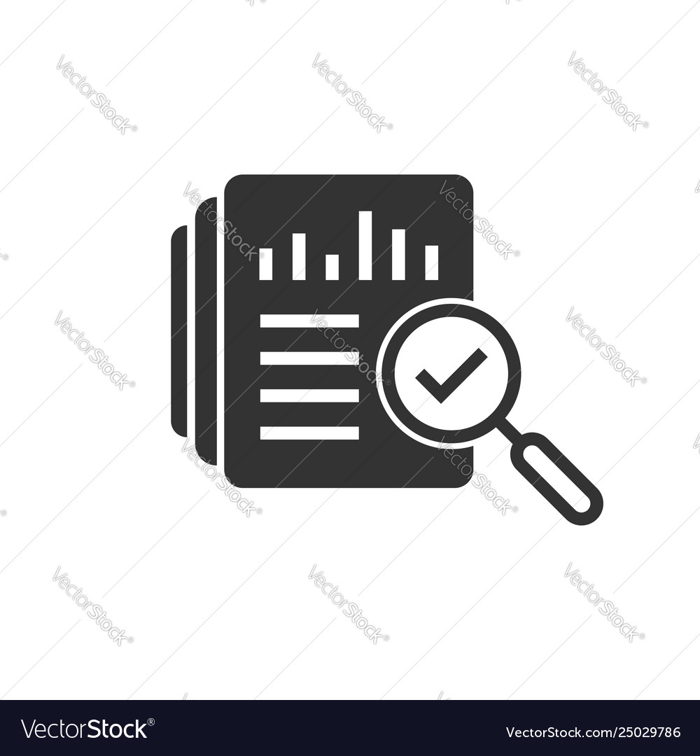 Audit document icon in flat style result report