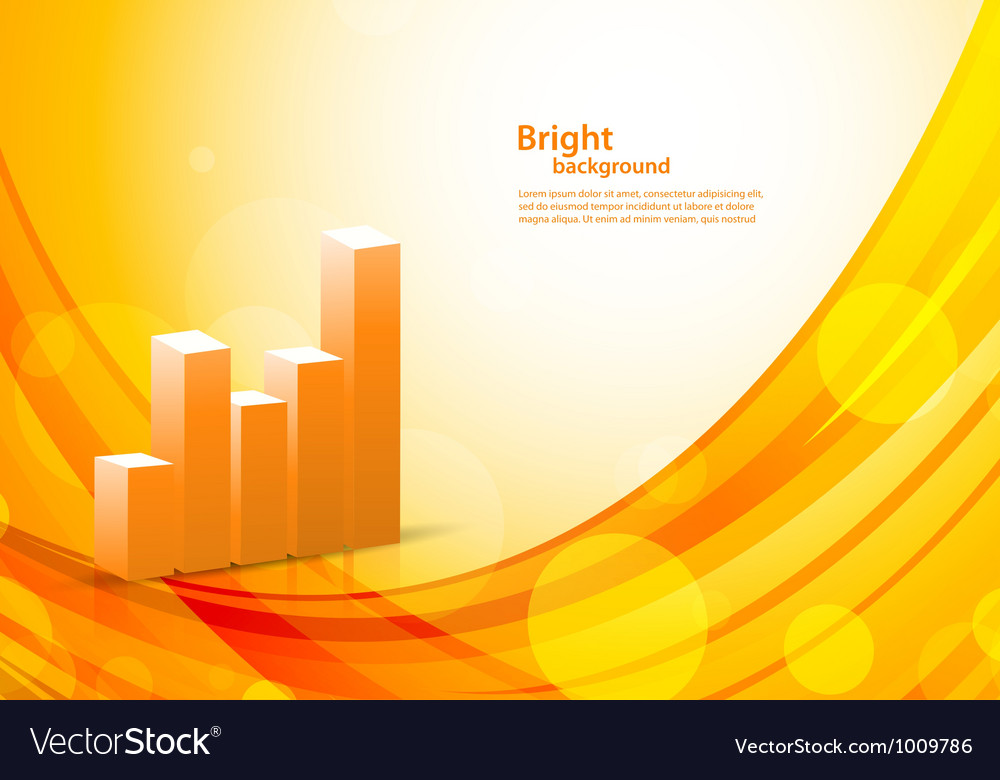 Background with diagram vector image