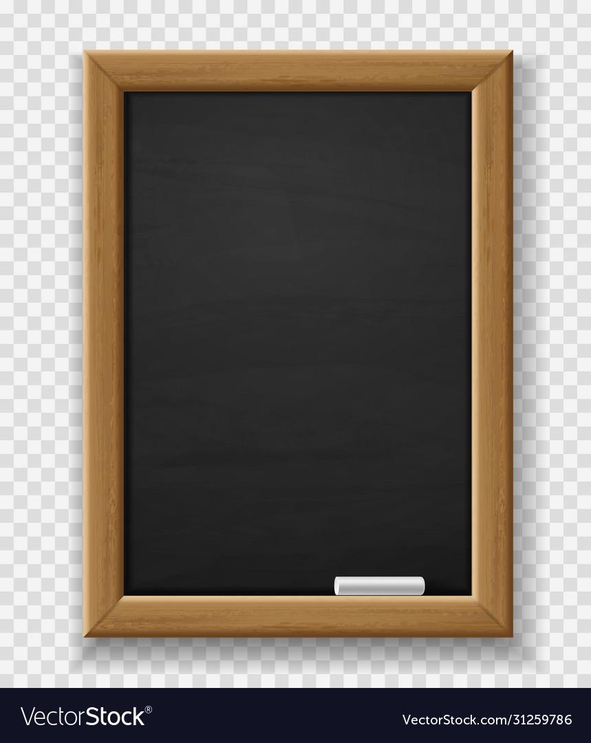 Blank blackboard realistic black chalkboard