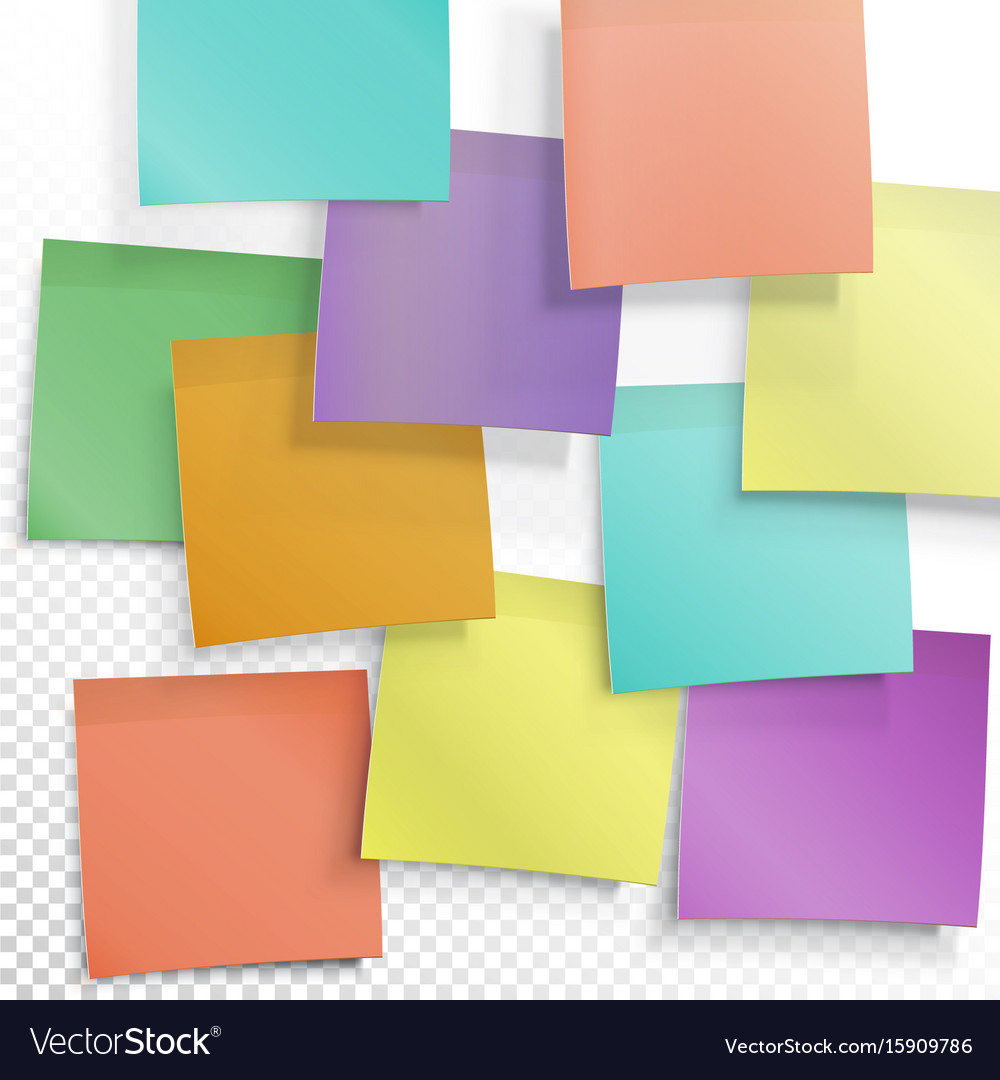 Colorful sticky notes busy concept editable vector image