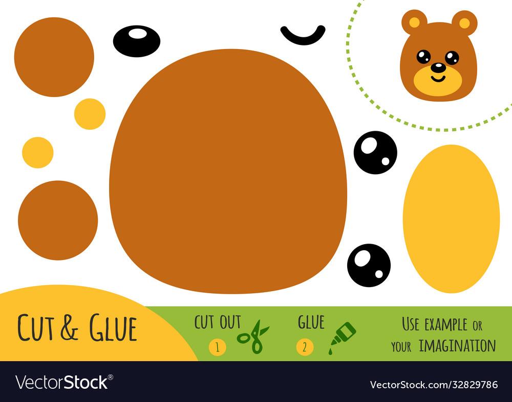 Education paper game for children bear