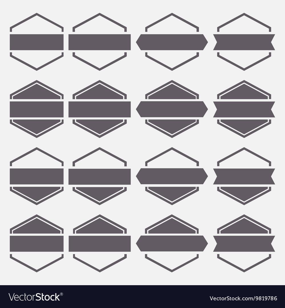 Set hexagonal emblem