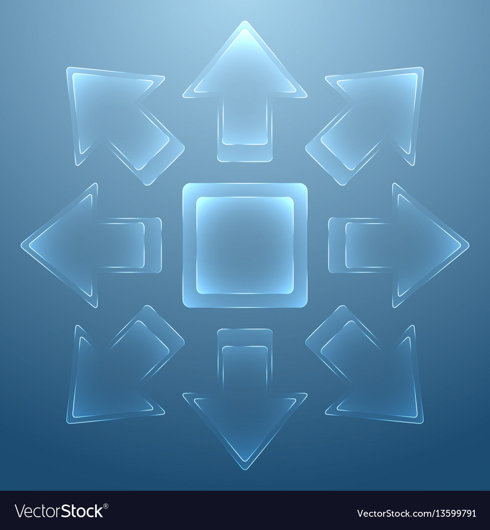Abstract background with glass arrows