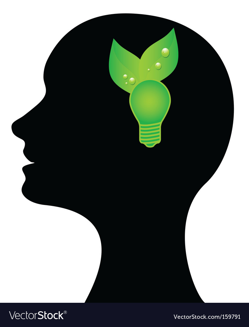Conceptual illustration green idea