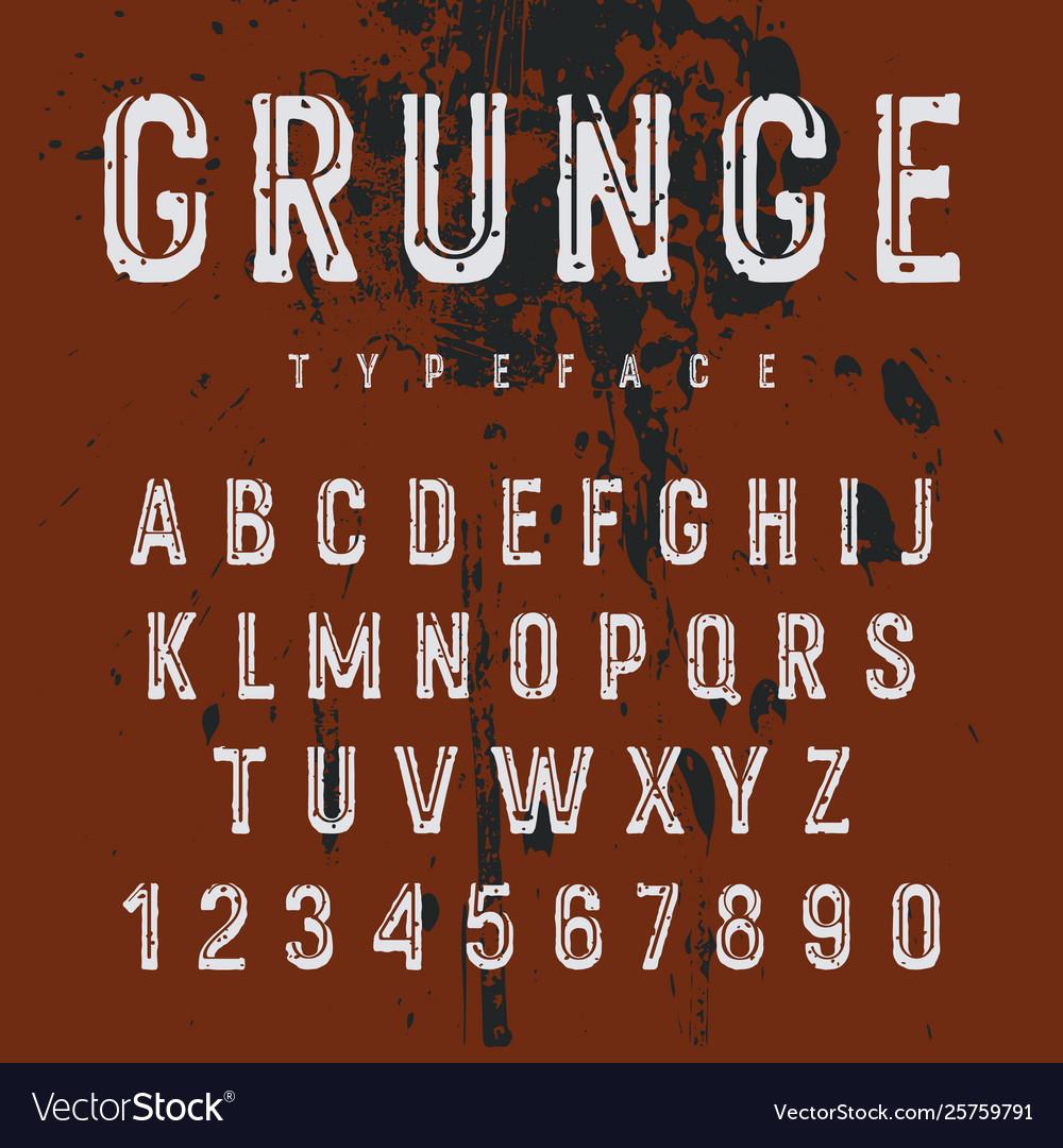 Grunge alphabet 008