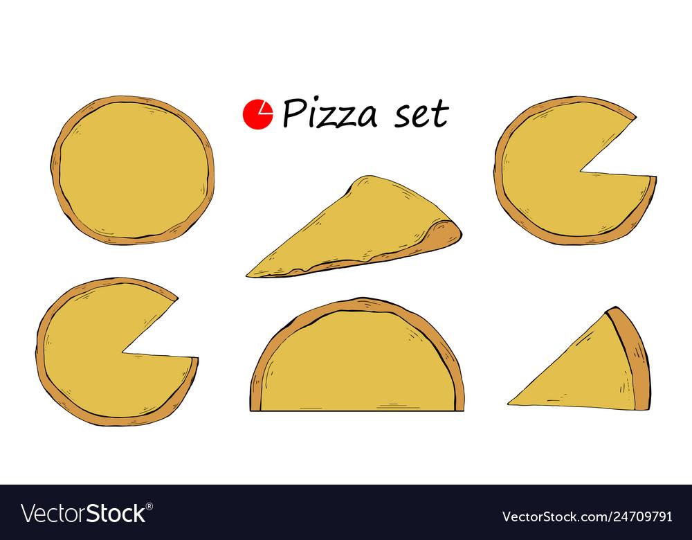 Pizza template set italian