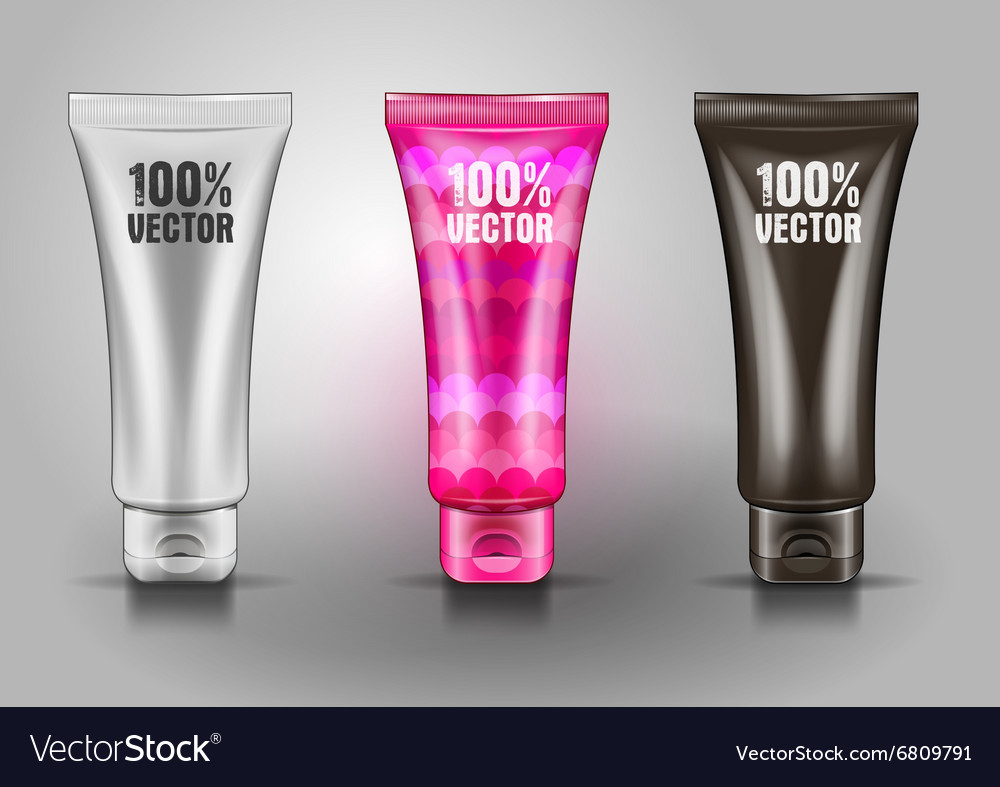 Plastic tube for cosmetic creams vector image