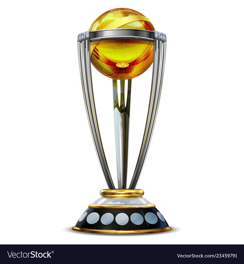 5ee2d82c306 Realistic cricket world cup trophy on plain Vector Image