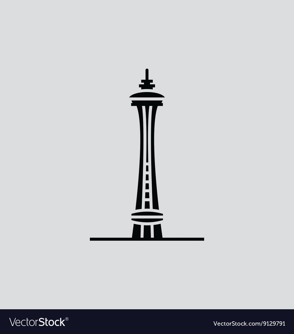 space needle royalty free vector image vectorstock rh vectorstock com space needle vector clip art seattle space needle vector