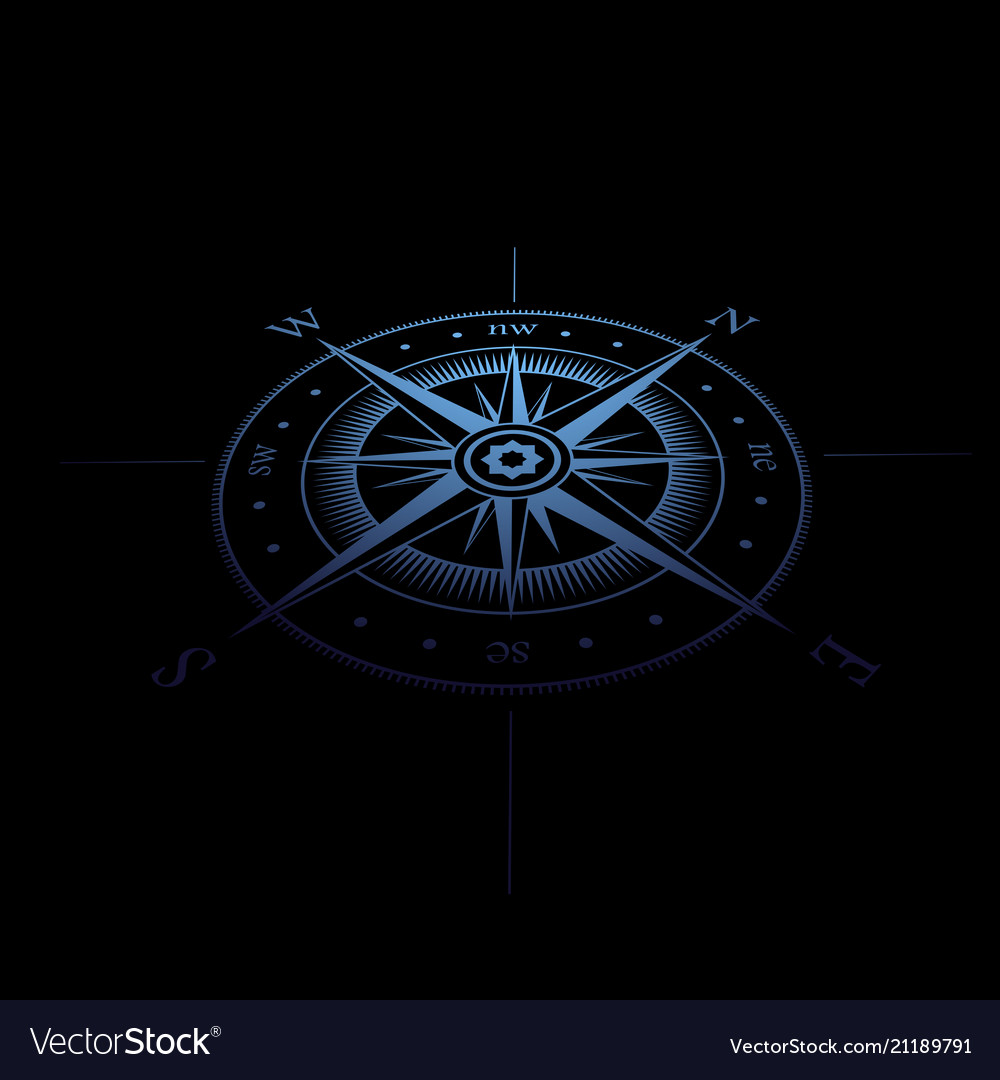 Wind rose blue perspective