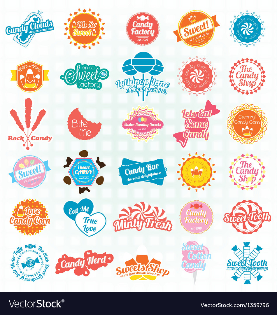 Candy and Sweets Labels and Stickers
