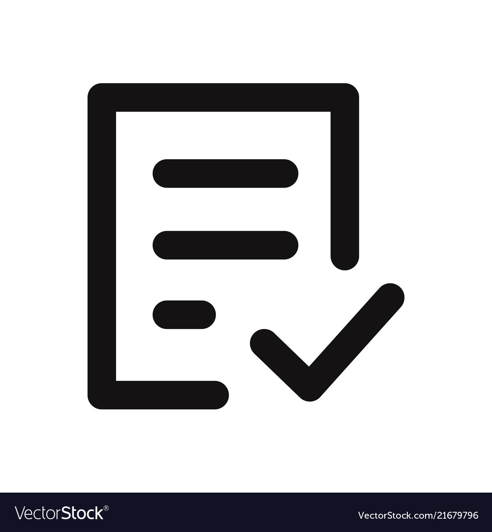 free form vector  Check form icon
