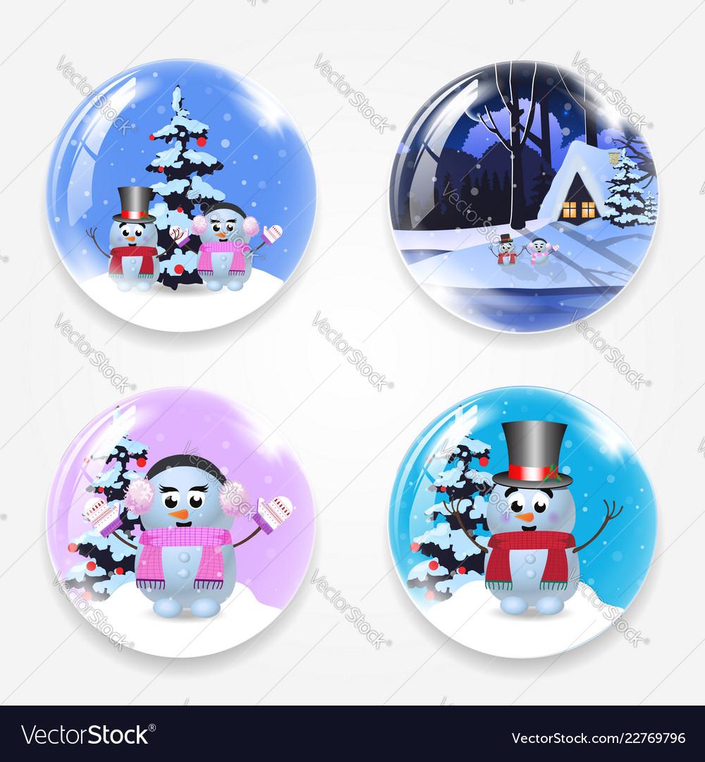 Christmas new year round glass crystall ball