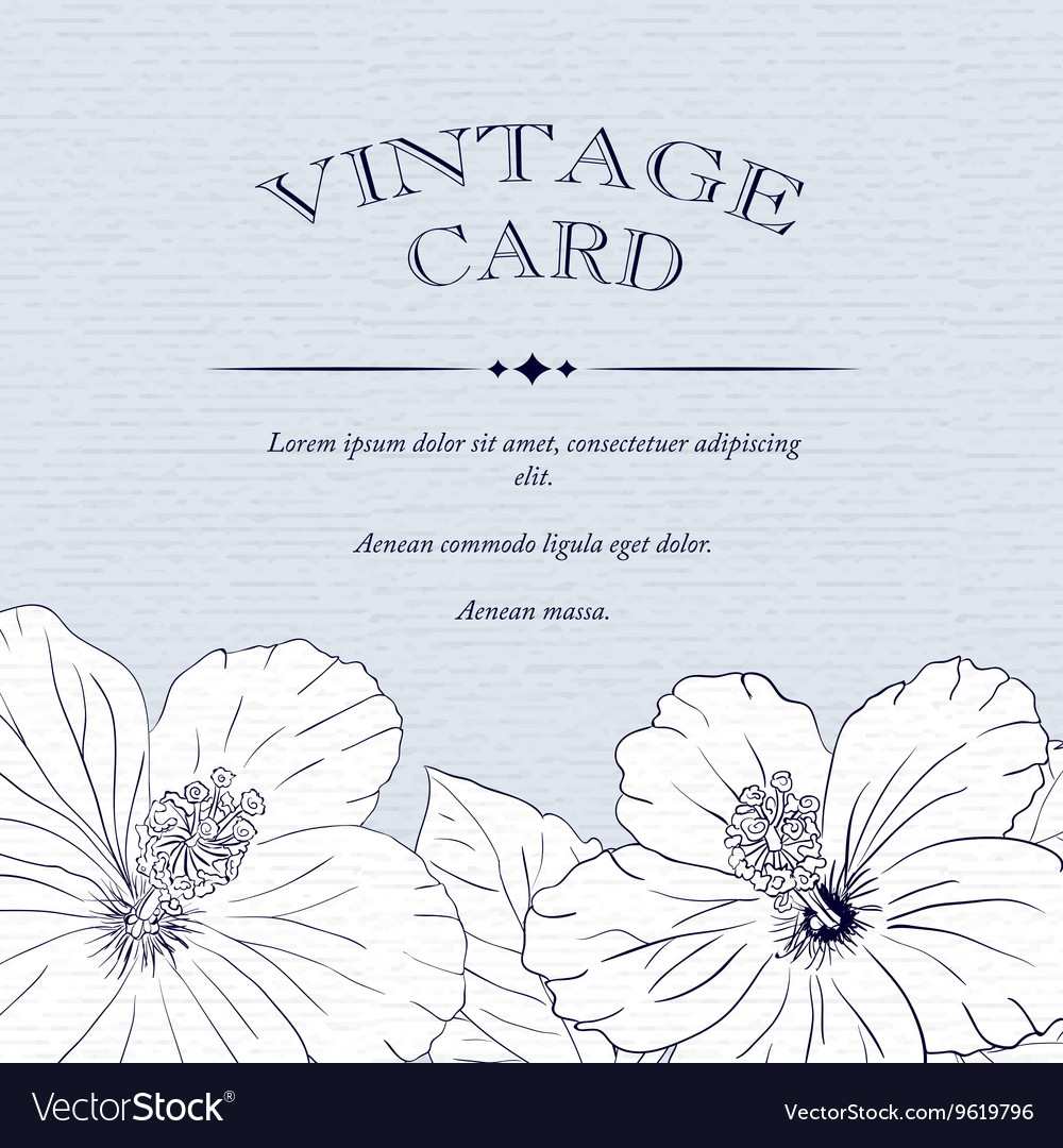 congratulations card design template with hibiscus