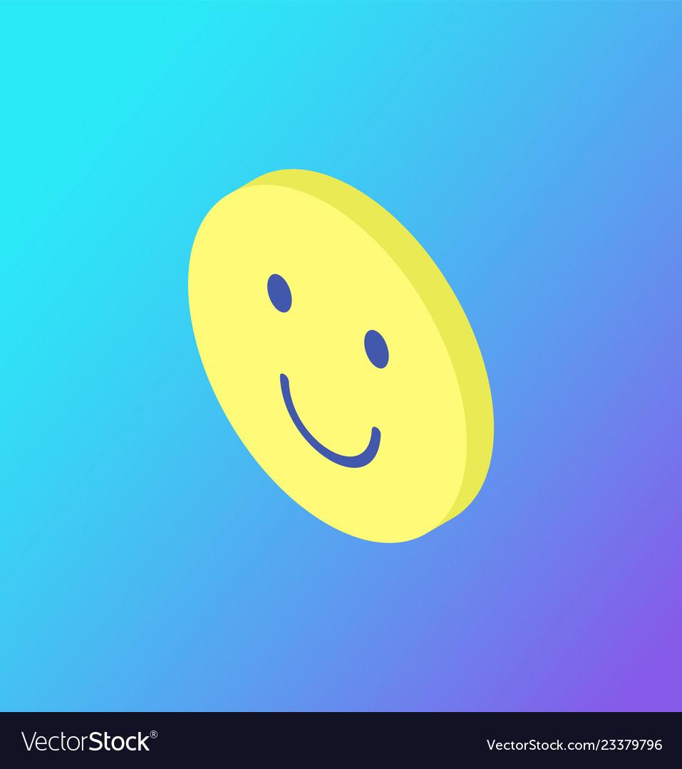 Emoji facial expression icon smiling face