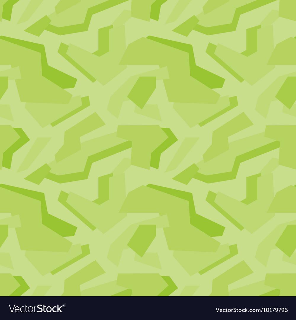 Geometric green camouflage seamless pattern