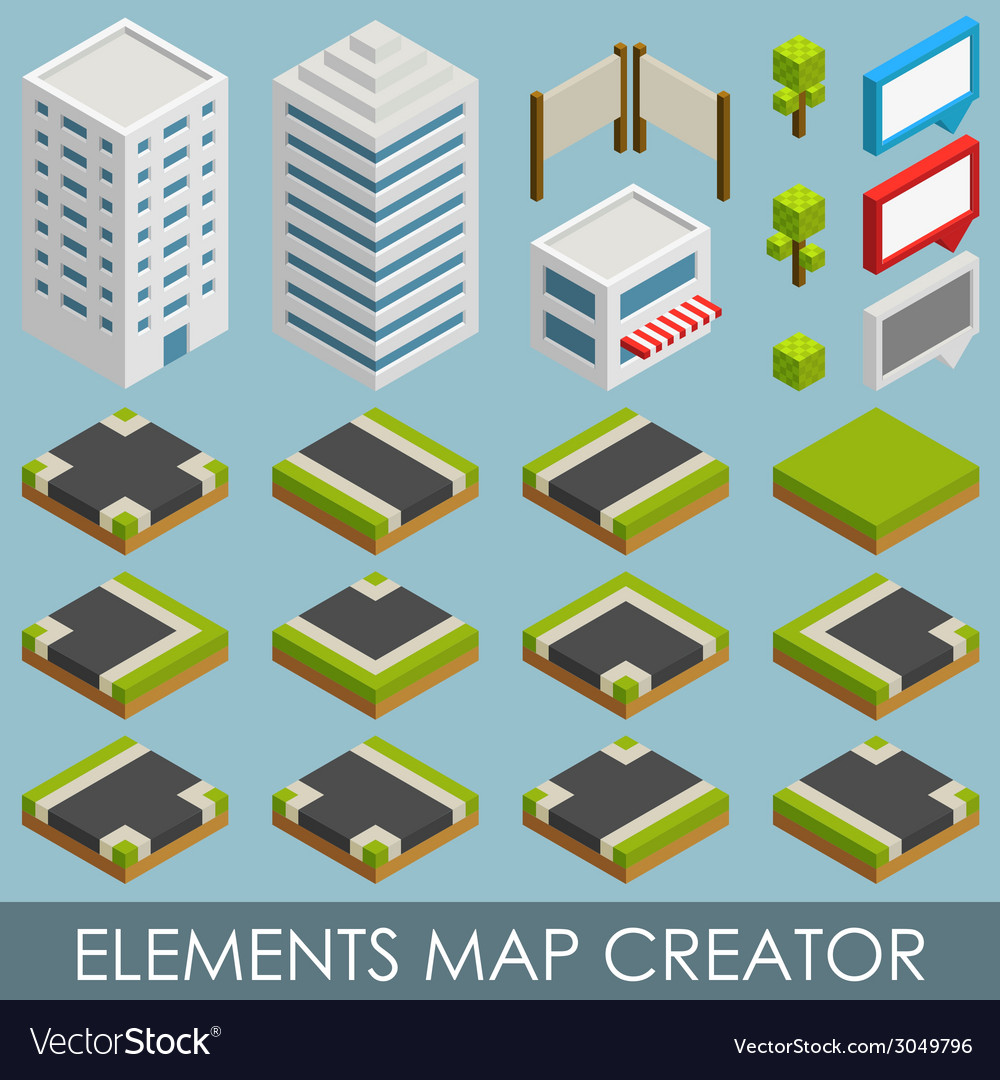 Map Creator.Isometric Elements Map Creator