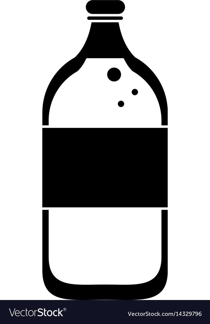 Mineral water bottle fresh pictogram