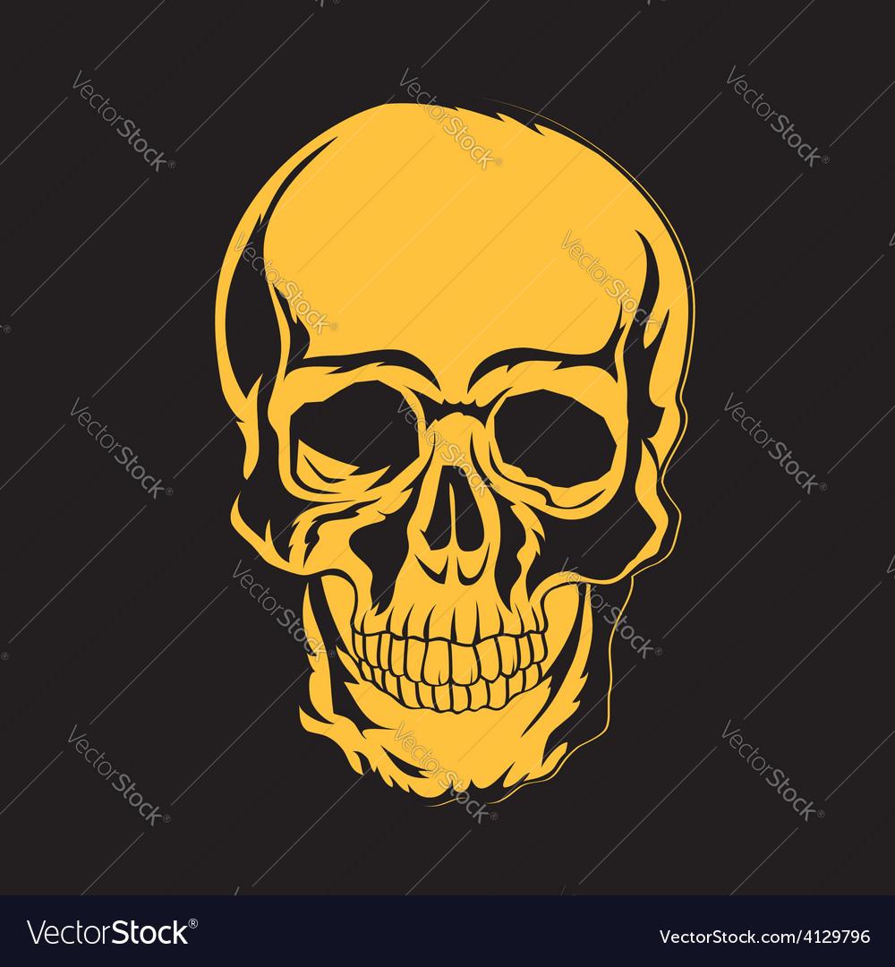 Skull T-shirt design Tatoo art Royalty Free Vector Image