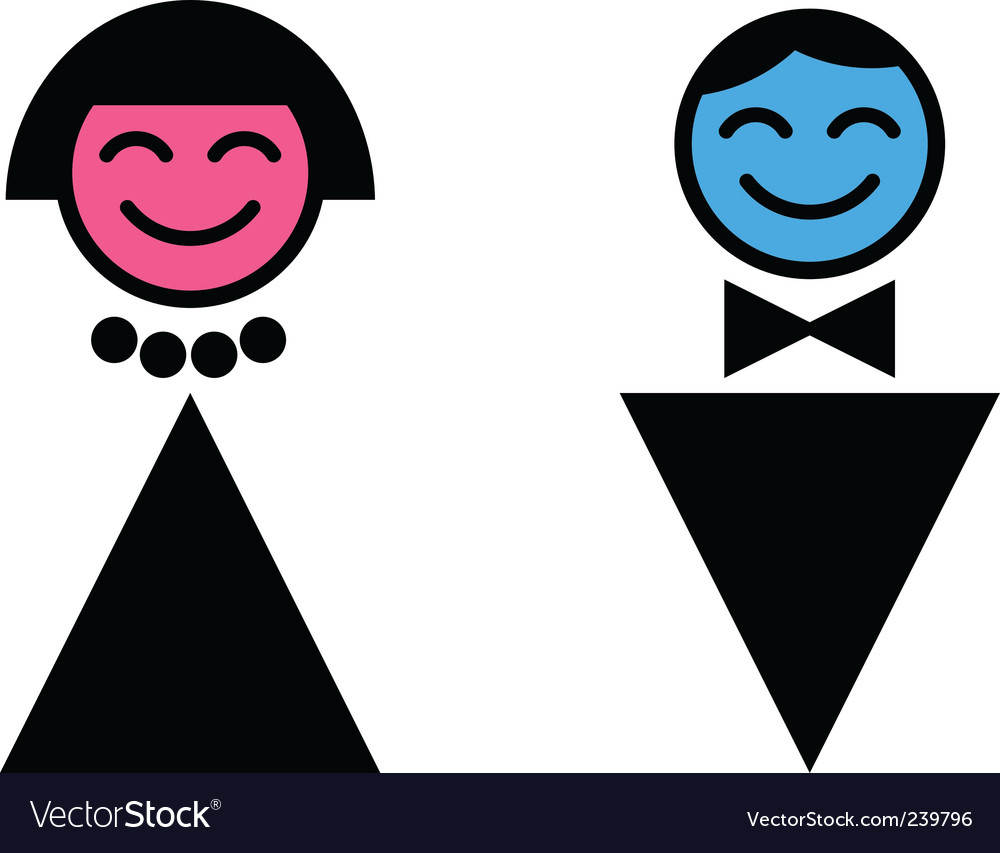 Toilet sign man and woman vector image