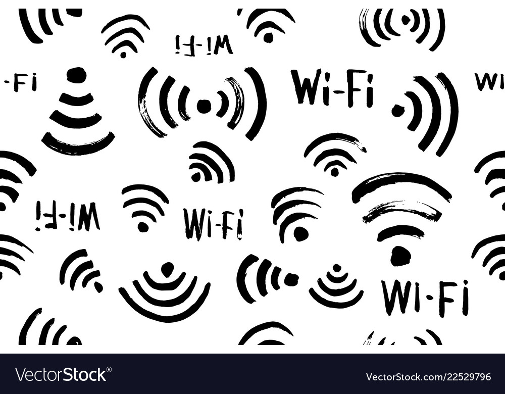 Wi-fi icon seamless pattern