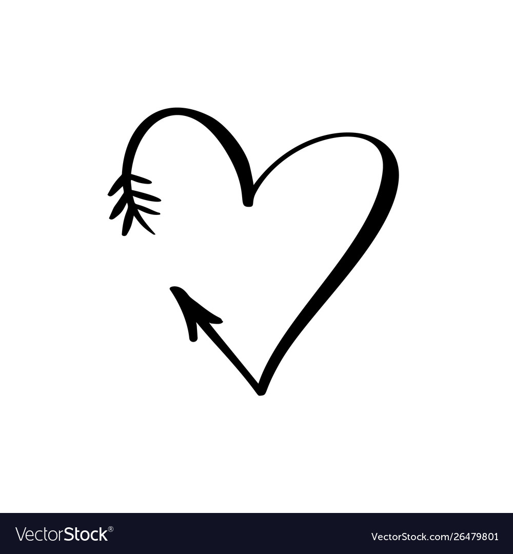 Black heart sign icon on white background