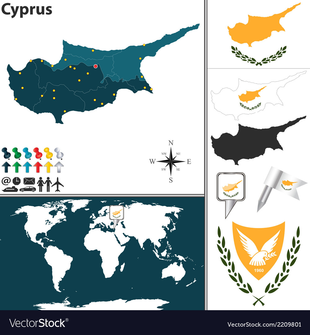 Cyprus map world royalty free vector image vectorstock cyprus map world vector image gumiabroncs Choice Image
