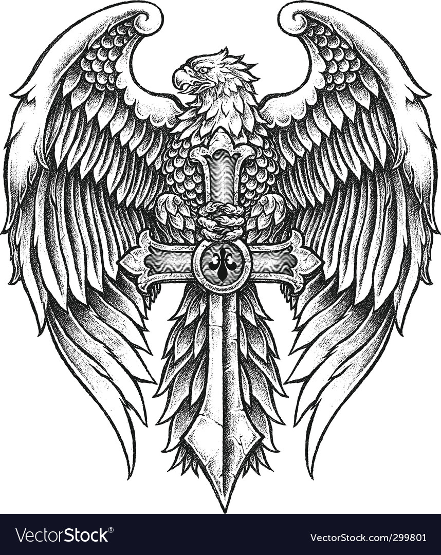 Eagle with sword