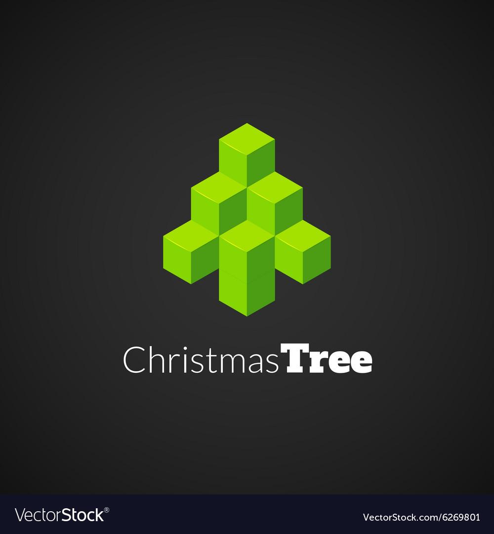 Isometric christmas tree logo